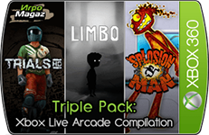 скачать Triple Pack - Xbox Live Arcade Compilation (Splosion Man, Trials HD, LIMBO, Region Free, ENG) для Xbox 360